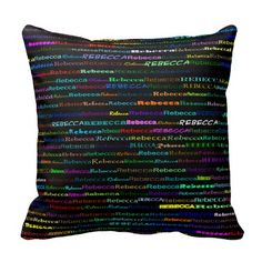 Rebecca Text Design I Throw Pillow