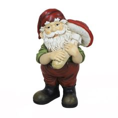 Kurt Adler 9-1/2-Inch Garden Elf with Mushroom Decoration -     9-1/2-inch in height Unique way to decorate Beautifully detailed  The kurt adler 9-1/2-inch garden elf with mushroom decoration is a fun, quirky way to add to your home, garden, or holiday décor! This garden elf wears a red cap and green shirt, has a full white beard, and holds a red cap...