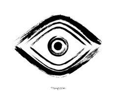 Evil Eye- Printable Poster - Art Print - Hand Drawn - Digital Illustration - Wall Decor - Wall Art - Desk Decor - Digital File by Kristen Polsinelli at DESIGN X FIVE
