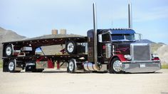 Peterbilt with flat trailers