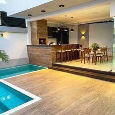 Home Design Decor, Patio Design, Villa Design, Home Decor, Spa Interior, Home Building Design, Building A House, Pool House Designs, Small Pool Design