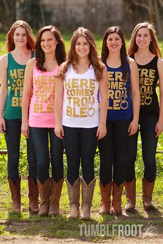 Adorable bachelorette party tank tops or girls weekend away