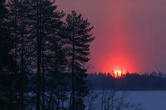 Sunset in Kuopio, eastern Finland   seita: Jääkeliä Kuopiossa. Upeita valokuvia ja mainio blogi: