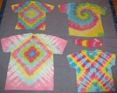 More fun tie dye patterns-Tessa wants the pink diamond one.