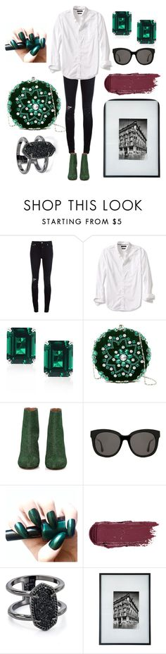 """green"" by krekerele ❤ liked on Polyvore featuring Closed, Banana Republic, CARAT* London, G-lish, Maison Margiela, Gentle Monster, Kendra Scott and Conran"