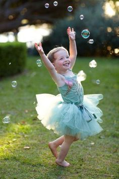 putting on your favorite tutu and dancing in the bubbles!!