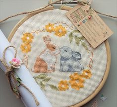 No Bunny Compares Cross Stitch Pattern, instant digital download ... kit available!