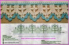 MIRIA CROCHÊS E PINTURAS: BARRADINHOS COLORIDOS EM CROCHÊ N° 612