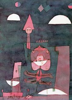 """Paul Klee 'The King of All Insects'(Der Konig Alles Ungeziefers) 1922 Pen and Sepia ink and watercolor on laid Ingres paper 11 3/4 x 9 5/8"""" (Yale University Gallery)"""
