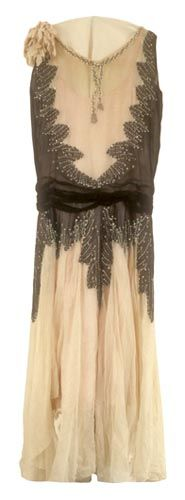 Silk Dress - c. 1929 - School of Drama Collection - @Mlle