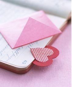 Heart bookmark, kid friendly craft