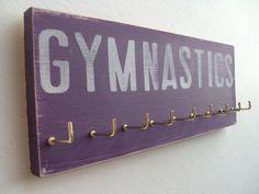 Gymnastics  Gymnastics Medals Display Rack by runningonthewall, $28.00