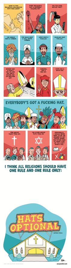 Hats Optional!  By Zen Pencils Comic :)