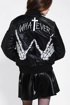 UNIF X UO MA-1 Whatever Bomber Jacket / My most fav jacket right now! Hella good quality, and super warm, and comfy! Totes recommend!
