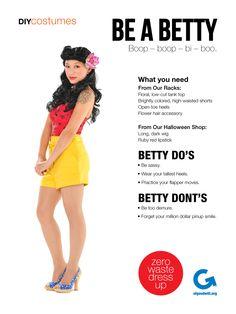 Goodwill Halloween DIY Costumes: Be a Betty Pin-Up #diy #halloween #thrift #goodwill