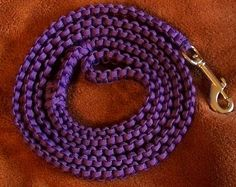 Braided Paracord Dog Leash Lead 4 & 5 feet 16 by DottiesDogs, $22.00