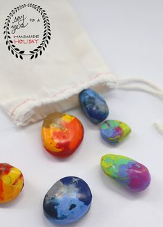 DiY Crayon Rocks - A Little Craft In Your DayA Little Craft In Your Day