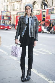 On the street rocking the moto trend...