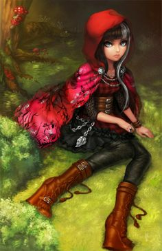 Ever After High-Cerise Hood daughter of Little Red Riding Hood