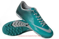 sports shoes 5ed96 38020 Nike Mercurial Victory IV TF in Jade Blue White
