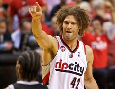 Portland's Robin Lopez has been drawing all over his shoes in the playoffs
