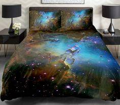 Galaxy, Universe, Stars, Milkyway Duvet Quilt Sets