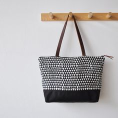 ZIP TOTE - triangle. by bookhou at home, via Etsy.