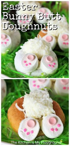 Easter Bunny Butt Doughnuts: Step-by-Step
