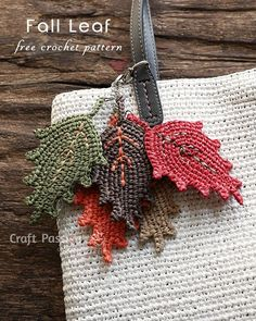 Get free pattern to crochet beautiful fall leaf. String up to make into charm. Easy to follow crochet pattern comes in written instruction & chart diagram