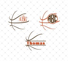 Basketball Ball SVG Cut Files  for Cricut and Silhouette