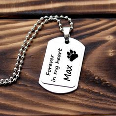 Pet loss necklace, personalized pet loss necklace, pet memorial necklace, pet loss jewelry, pet lover necklace, custom pet loss necklace