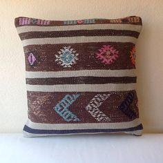 Turkish Pillow Cover Kilim Pillows Anatolian Kilim Rug Pillow