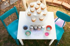 Decorate your own cupcake sprinkle style. Love all the ideas for this Confetti Birthday Party: Toddler Activities - Honest To Nod