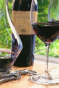 Napa Merlot by Cindy Agan Watercolor Art Cafe, Wine Vineyards, Wine Art, Wine Cheese, In Vino Veritas, Italian Wine, Wine Time, Wine And Spirits, Wine Making