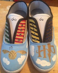 Hand Painted Shoes Inspire by Harry Potter on Etsy, $50.00