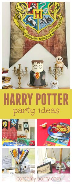 Don't miss this amazing Harry Potter birthday party! The Harry Potter inspired birthday cake is incredible!! See more party ideas and share yours at CatchMyParty.com