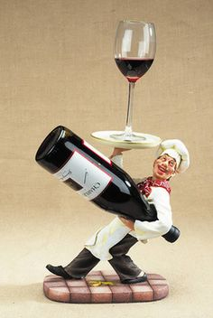 A waiter to hold your wine glass and bottle