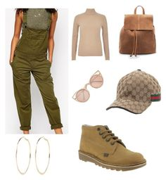 """""""Neutrals"""" by chantellesani ❤ liked on Polyvore featuring ASOS, Kickers, River Island, Quay, MANGO and Gucci"""