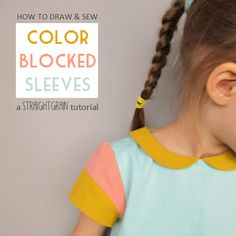StraightGrain. A blog about sewing: Tutorial: Colorblocked sleeves