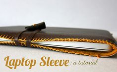 Check out this amazing Laptop Sleeve from Sweet Verbena! She gives very clear instructions including a video tutorial to make the blanket stitch. This tutorial can be used for any electronic like a laptop, iPad, Handmade Gifts For Men, Diy Gifts For Him, Christmas Gifts For Men, Homemade Christmas Gifts, Handmade Christmas, Homemade Gifts, Diy Christmas, Diy Star, Cool Diy
