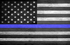 Thin Blue Line American Flag Poster | Brotherhood Products