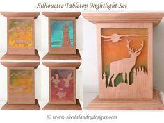BSLDTNSET1 - Set of Silhouette Nightlight Patterns 1 - 5