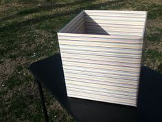 Life...May Cause Side Effects: DIY: Storage Cube Box
