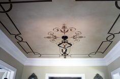 Modello® Designs Masking Stencil on Ceiling | Project by Bella Tucker of Nashville