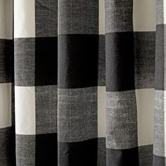 """Shop 84"""" Buffalo Check Black Blackout Curtains. Our Buffalo Check Curtains feature a classic black and white pattern and are made from 100% cotton."""