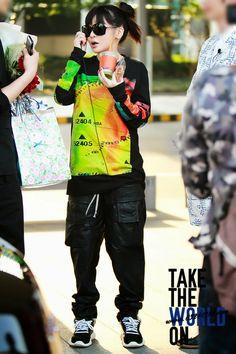 Official Korean Fashion Blog: Airport Fashion: 2ne1 Park Bom