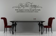 Bless This Home | Wall Decals - Trading Phrases