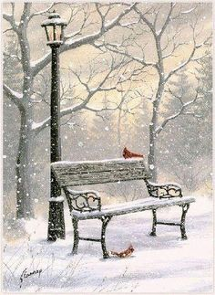 Lovely wintery scene, I love wintery