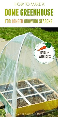 Growing Vegetables How to make a dome greenhouse to extend the growing seasons. Cold Climate Gardening, Organic Gardening, Gardening Tips, Gardening Supplies, Gardening Services, Urban Gardening, Container Gardening, Dome Greenhouse, Build A Greenhouse