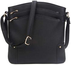 Amazon.com: Vera Bradley Triple-Zip Hipster Crossbody Purse Best Crossbody Bag Travel, Travel Bags, Vera Bradley, Hipster, Zip, Purses, Amazon, Womens Fashion, Style